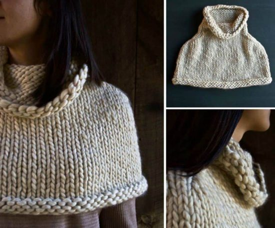 Knitted Capelet Free Pattern