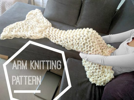 Arm Knit Mermaid Blanket Pattern Easy Video Tutorial