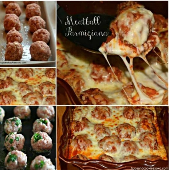 Baked Meatball Parmesan Recipe