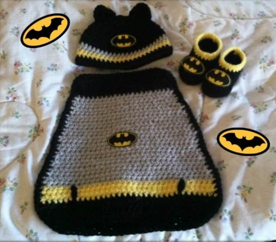 Batman Crochet Cape