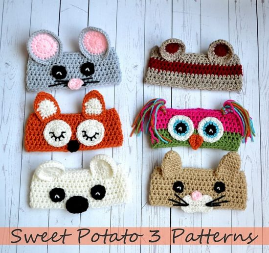 Crochet Animal Hats Patterns