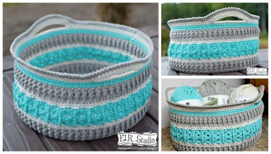 Crochet Basket & Crochet Storage Basket Pattern Lots Of Ideas | The WHOot