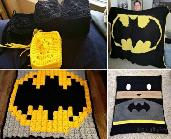 Crochet Batman Blanket