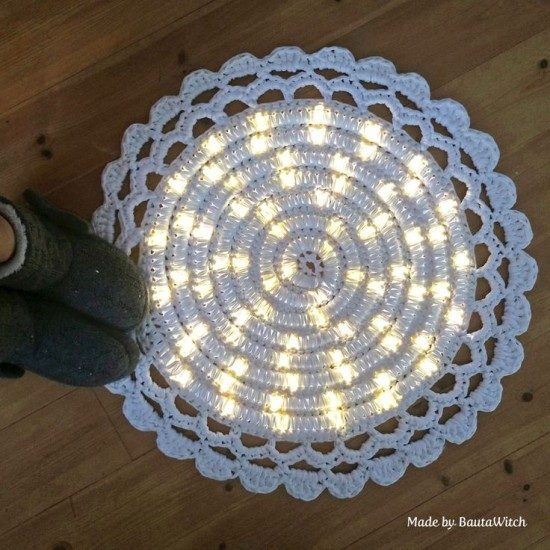 crochet night light rug