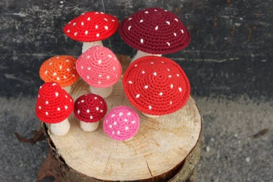 Free Crochet Patterns | Pattern Red Mushrooms with White Dots ... | 366x550