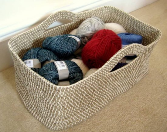 Crochet Storage Basket Pattern