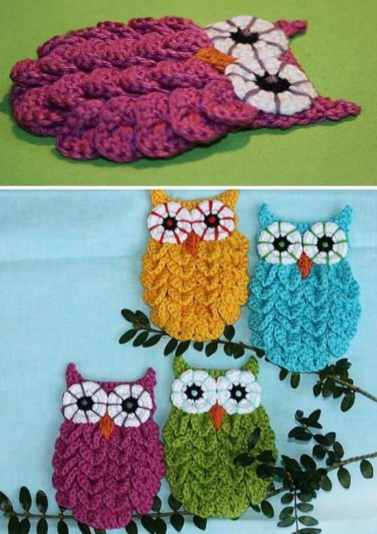 Crocodile Stitch Owl Pattern