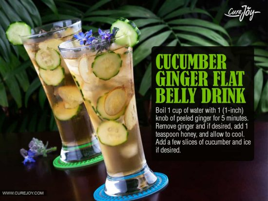 Cucumber Ginger Flat Belly Drink