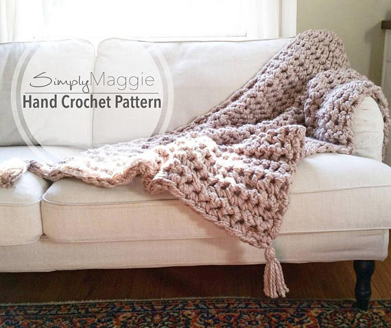Hand Crochet A Chunky Blanket In One Hour The Whoot
