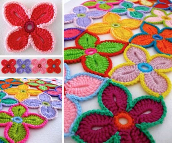 Hawaiian Flowers Crochet Pattern Free