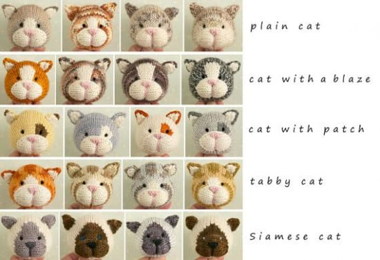 Knitted Cats Pattern