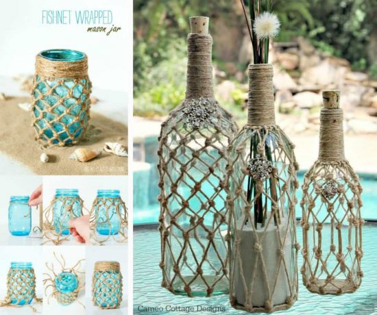 how to make lanterns from jars and macrame