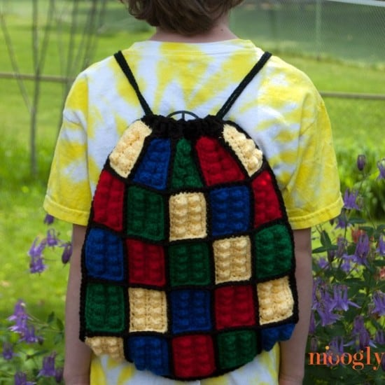 LEGO Crochet Backpack Bag Pattern