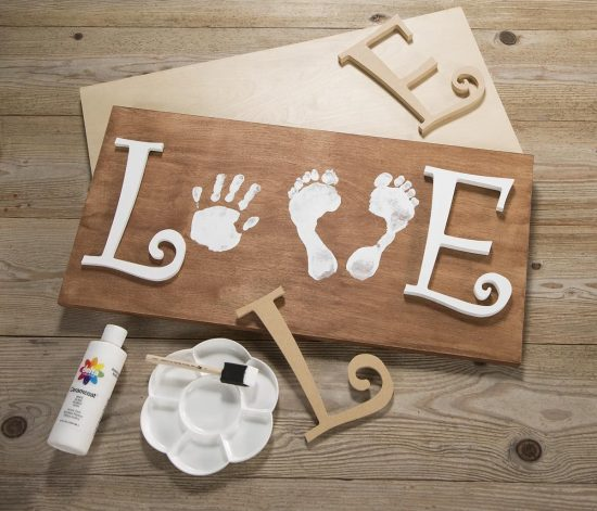 Love Wood Canvas Sign
