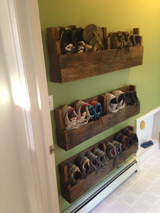 diy pallet shoe rack. Pallet Shoe Rack Via Clipgoo Diy