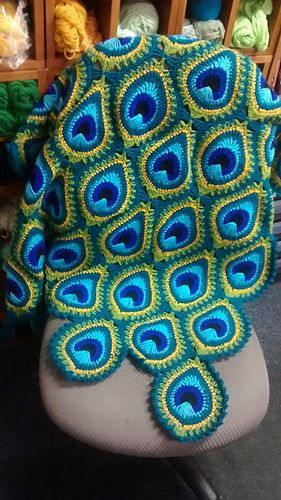 Peacock Crochet Blanket Pattern