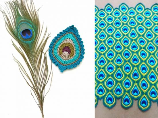 Peacock Crochet Blanket Pattern Free
