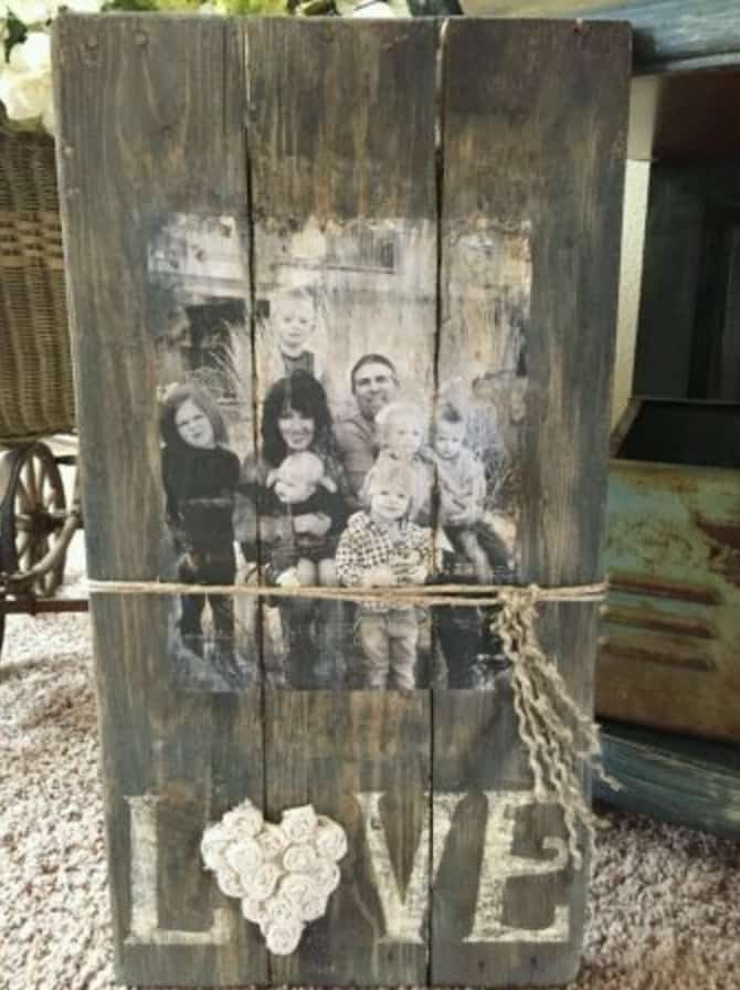 Photo Transfer Wood Mod Podge