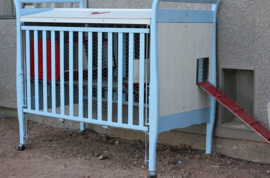 Repurposed Crib Chicken Coop