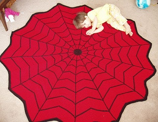 Spiderman Knitted Blanket Free Pattern