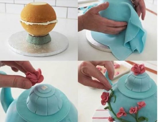 How To Make A Teapot Cake With Fondant