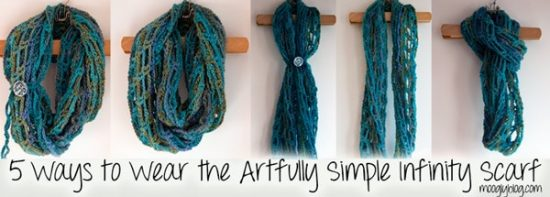 5 Ways To Wear Crochet Infinity Scarf