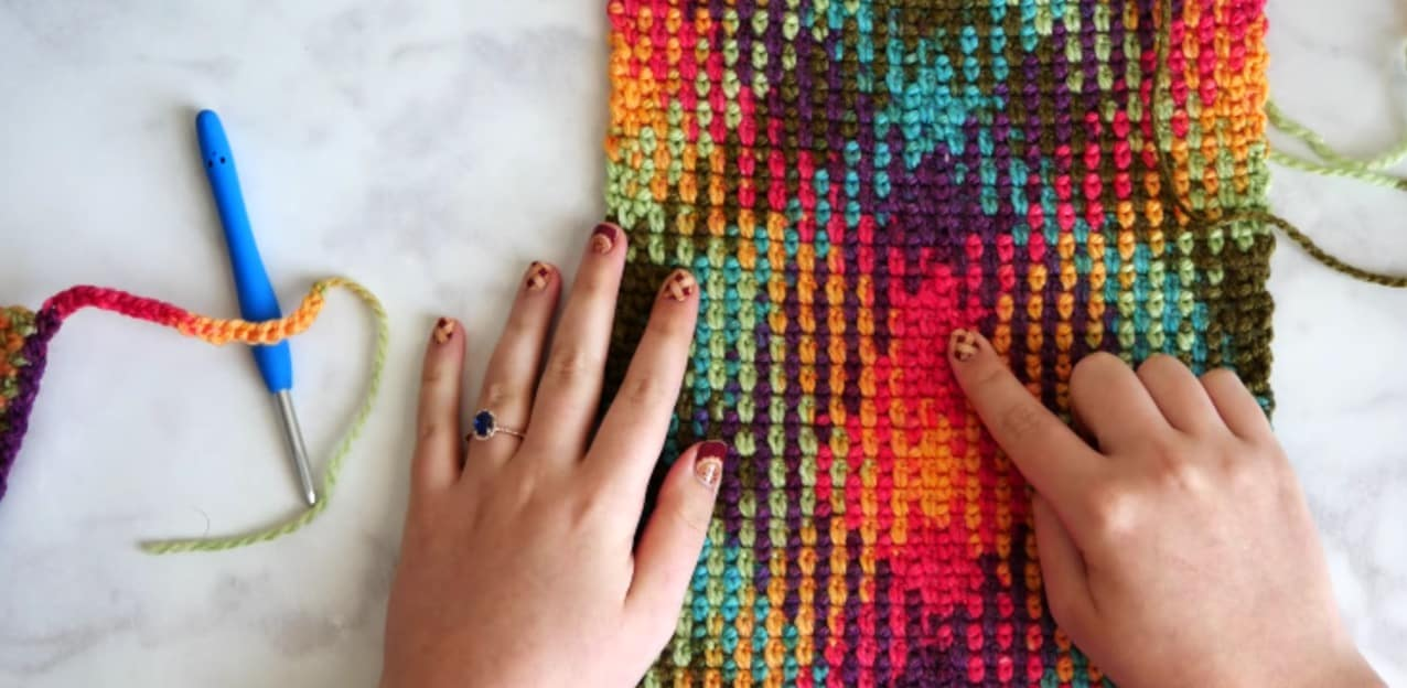 Color Pooling Scarf Crochet Pattern Free Video Tutorial
