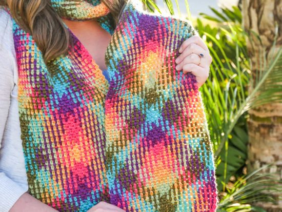 Color Pooling Scarf Crochet Pattern