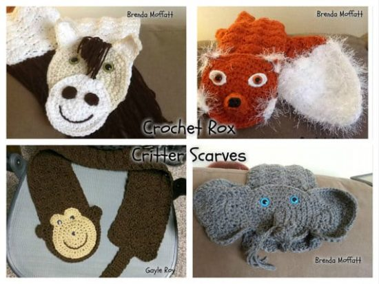 Crochet Animal Scarves Patterns