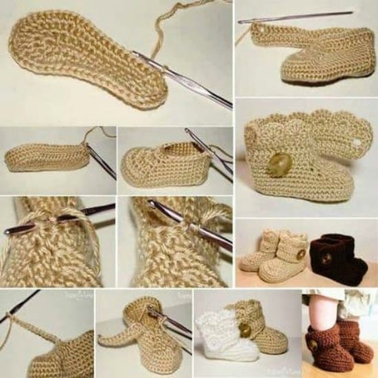 Crochet Button Baby Booties Free Pattern With Video Tutorial New Crochet Baby Booties Pattern Step By Step
