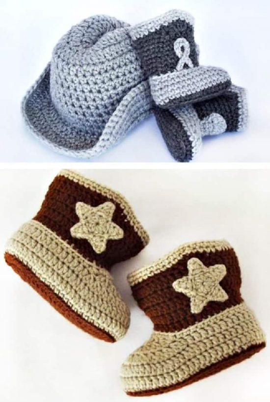 cb46e65a4c5 Crochet Cowboy Boots Free Pattern Report · Crochet Cowboy and Hat ...