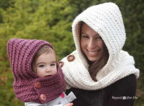 Crochet Hooded Cowl Tutorial Free Pattern Video Tutorial