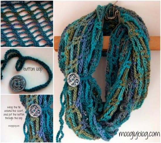 Crochet Infinity Scarf Free Pattern Video Tutorial Easy