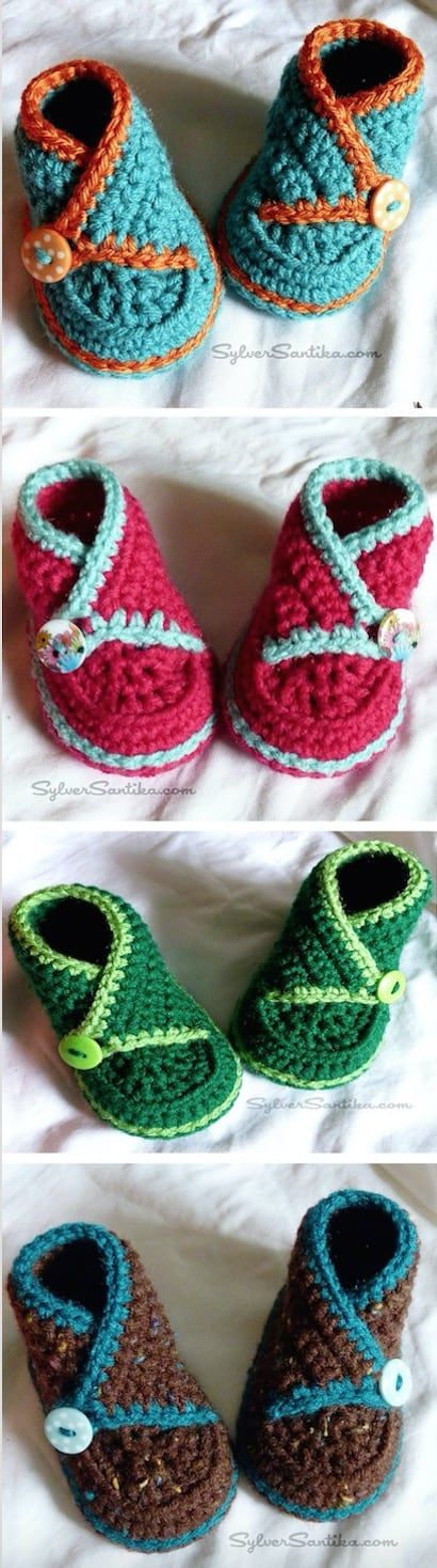 Learn crochet baby booties video