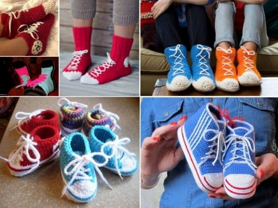 Crochet Sneakers Slippers Pattern