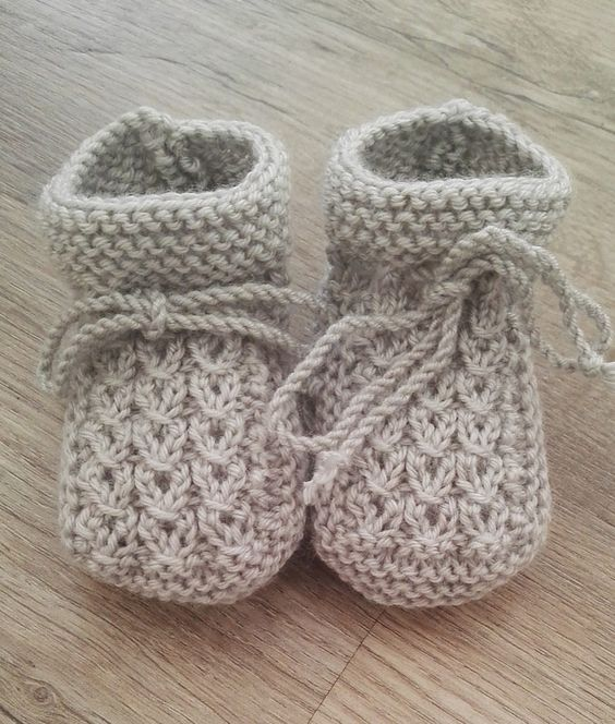 Knitting Designs For Newborn Babies : Knitted baby booties free patterns cutest ideas ever