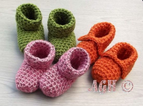 Knitted Baby Booties Free Patterns 2