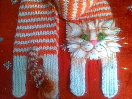 Knitted Cat Scarf Pattern