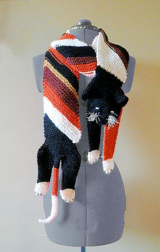 Knitted Cat Scarf Pattern Free