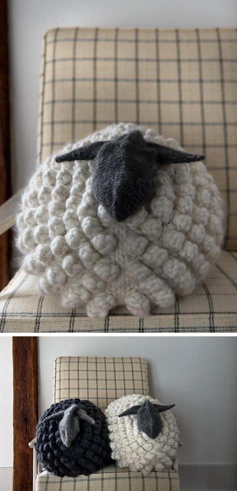 Knitted Sheep Pillow Pattern