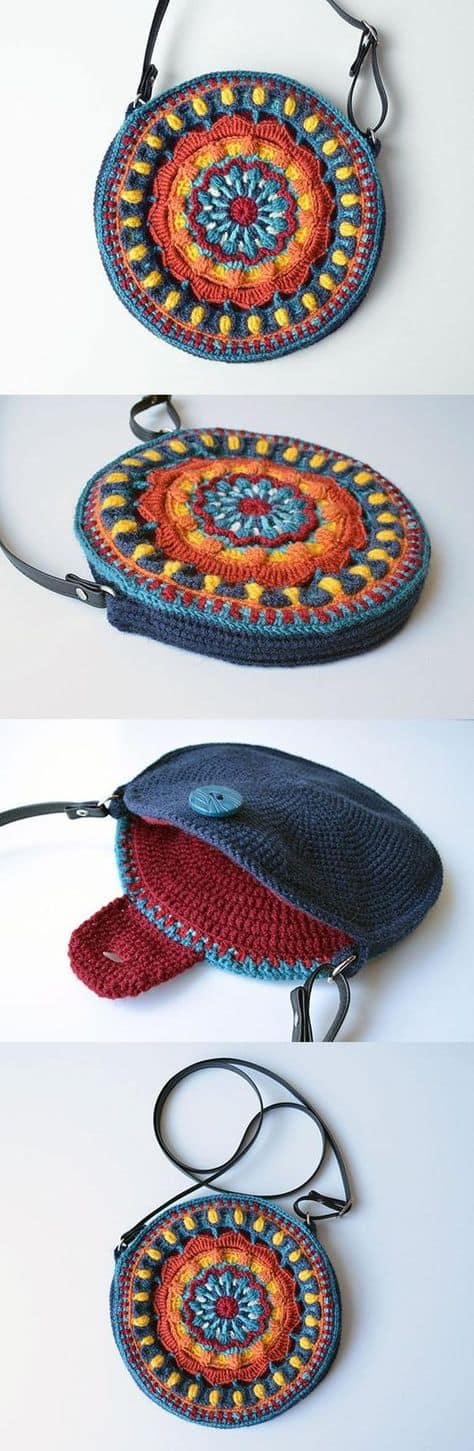 Mandala Bag Free Crochet pattern