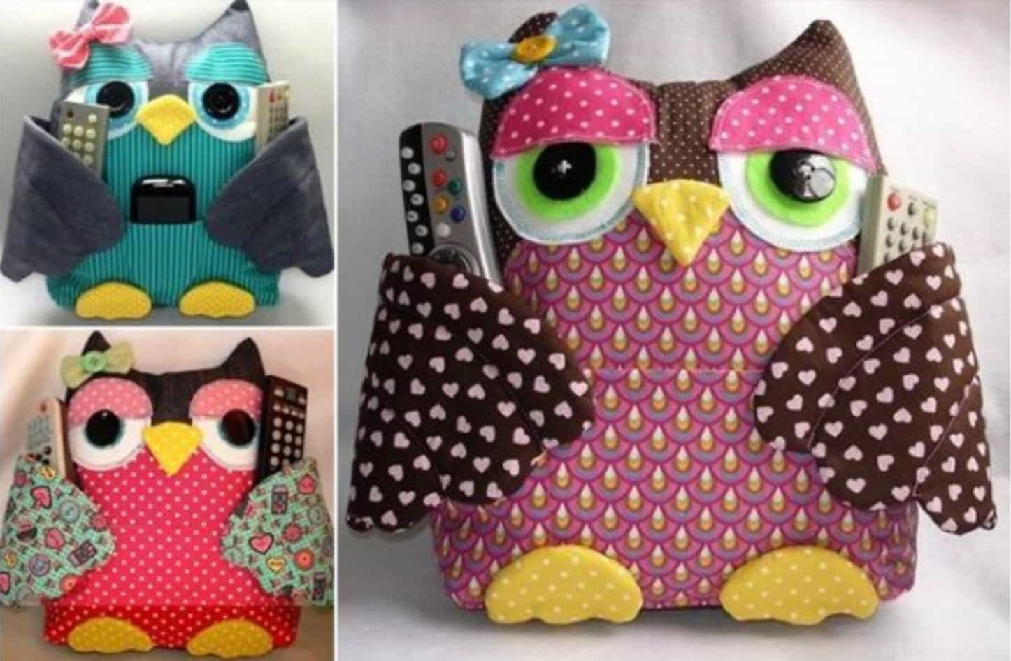 Owl Remote Control Holder Sewing Pattern Video Tutorial