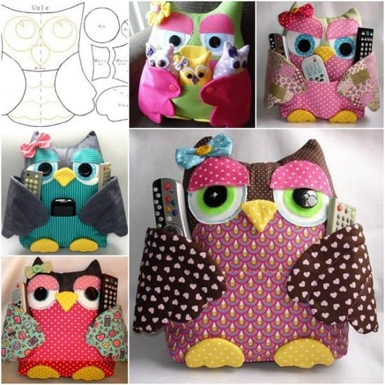 Owl Remote Control Holder Sewing Pattern The WHOot