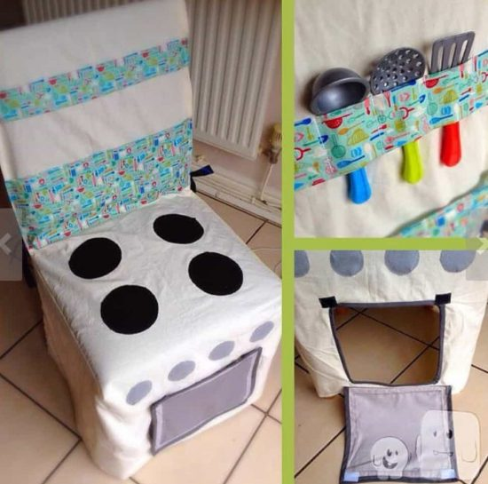 Play Kitchen Chair Cover