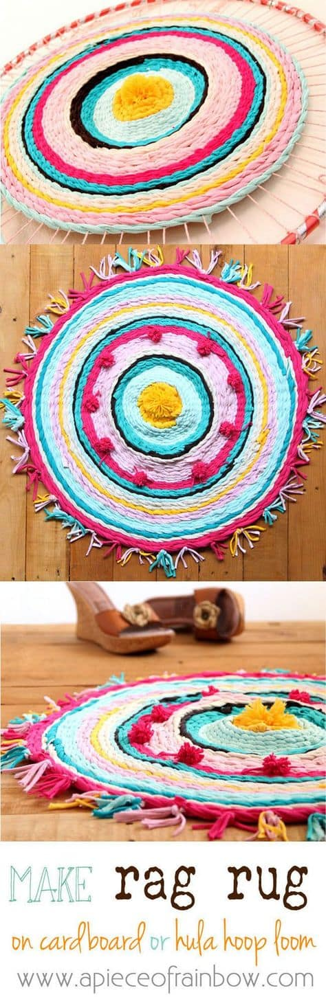 Hula Hoop T Shirt Rug Instructions Easy