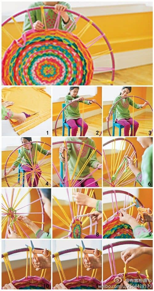 T Shirt Hula Hoop Rug Instructions 3