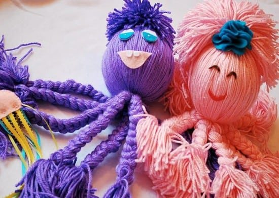 Yarn Octopuses Instructions