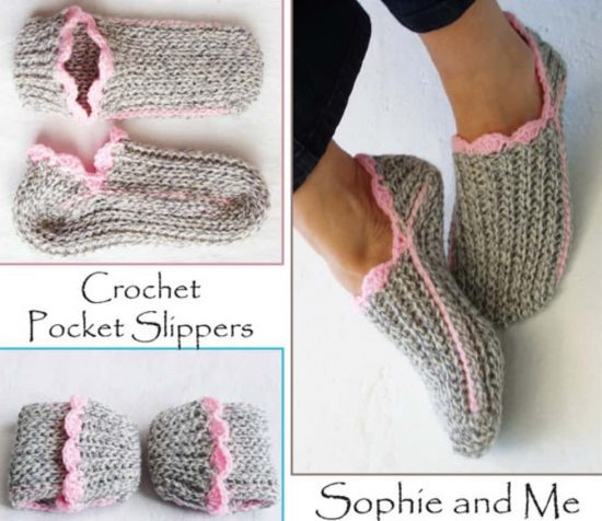 crochet slipper pattern etsy