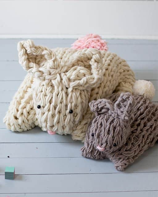 Arm Knit Bunny Pattern