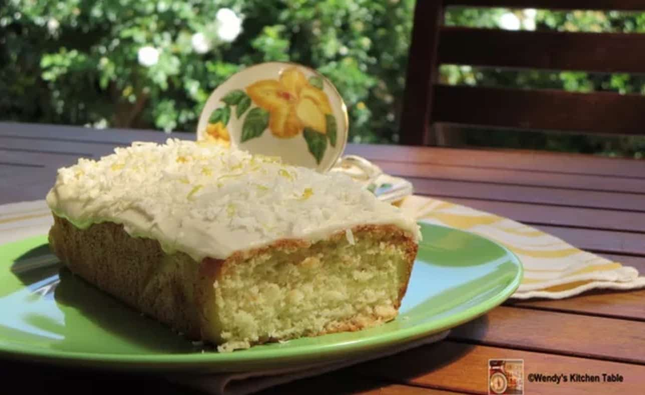 coconut loaf cake with icing
